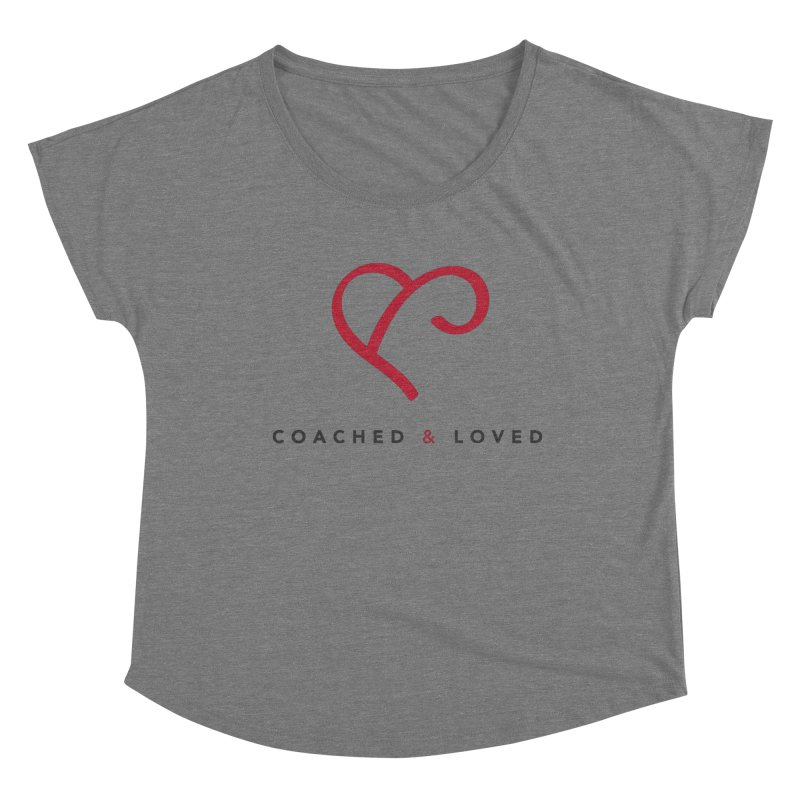 Red Logo Words Women's Scoop Neck by Official Merch of the Fitness Protection Program