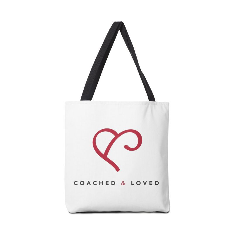 Red Logo Words Accessories Tote Bag Bag by Official Merch of the Fitness Protection Program