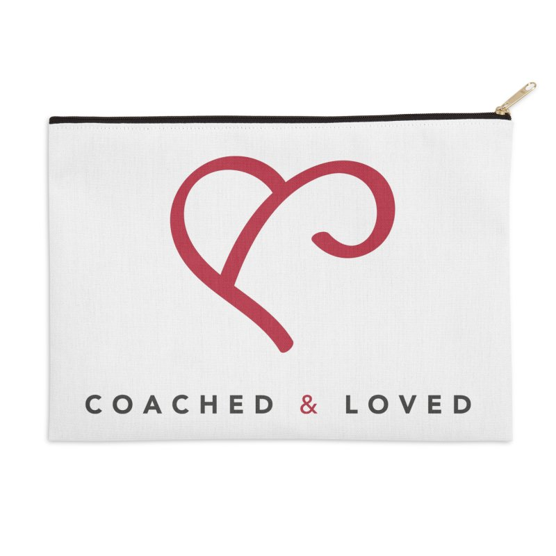 Red Logo Words Accessories Zip Pouch by Official Merch of the Fitness Protection Program