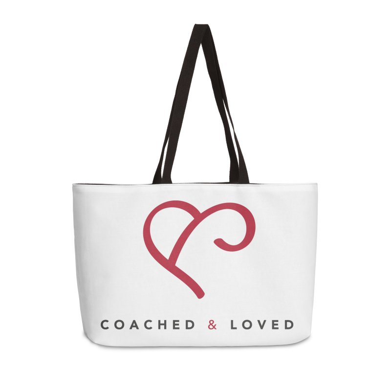 Red Logo Words Accessories Weekender Bag Bag by Official Merch of the Fitness Protection Program