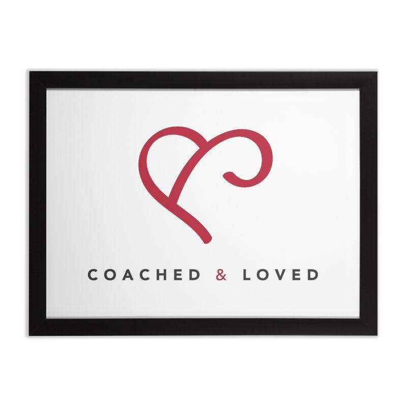 Red Logo Words Home Framed Fine Art Print by Official Merch of the Fitness Protection Program