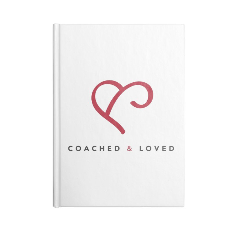 Red Logo Words Accessories Blank Journal Notebook by Official Merch of the Fitness Protection Program