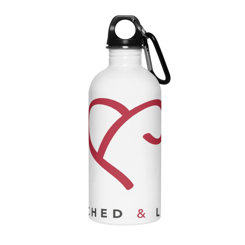 Red Logo Words Accessories Water Bottle by Official Merch of the Fitness Protection Program