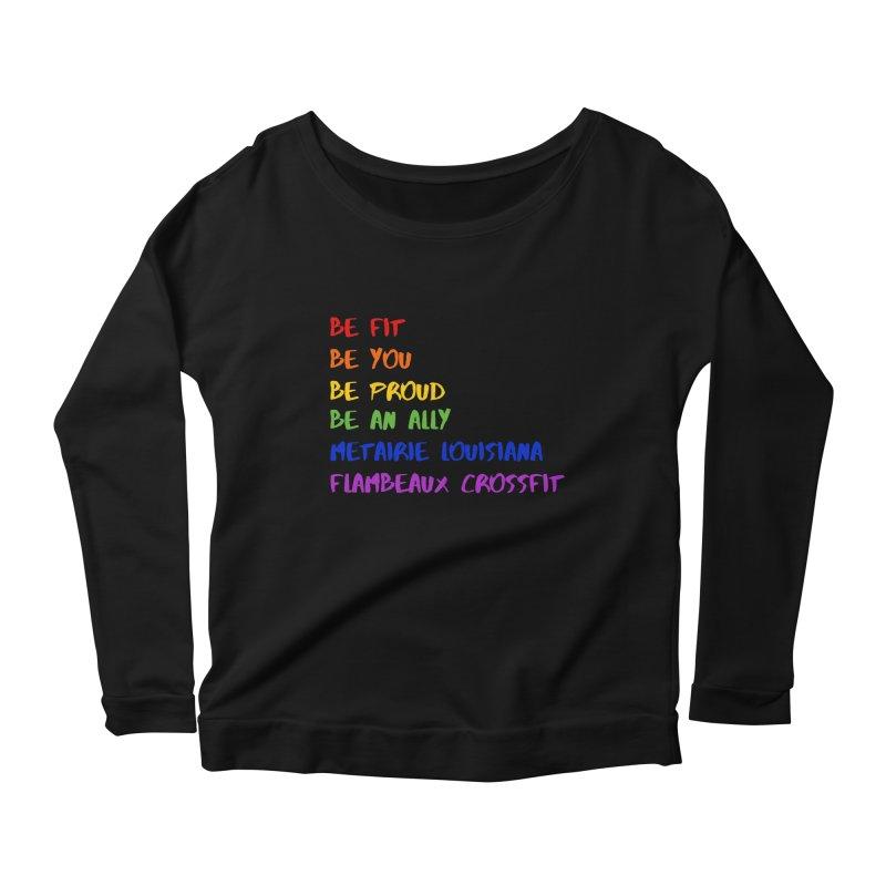 PRIDE 2019 Women's Scoop Neck Longsleeve T-Shirt by FlambeauxFit's Artist Shop