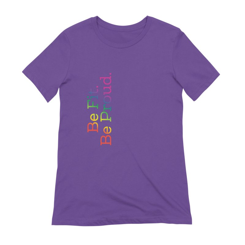 ALL THE PRIDE Women's Extra Soft T-Shirt by FlambeauxFit's Artist Shop