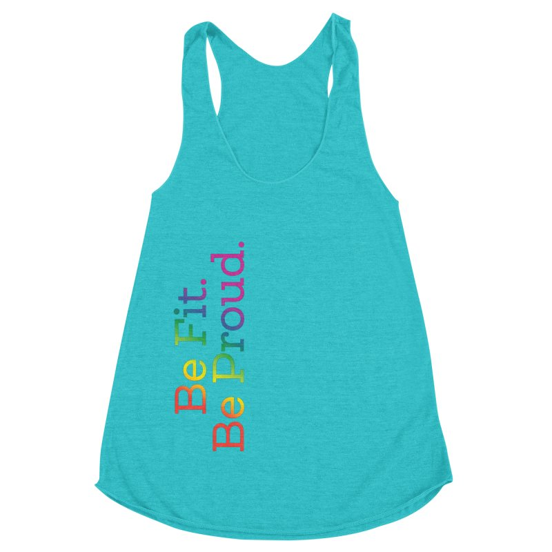 ALL THE PRIDE Women's Racerback Triblend Tank by FlambeauxFit's Artist Shop