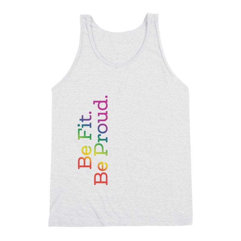 ALL THE PRIDE Men's Triblend Tank by FlambeauxFit's Artist Shop