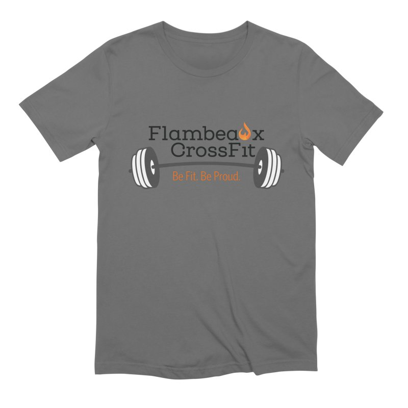 Flambeaux barbell Men's T-Shirt by FlambeauxFit's Artist Shop