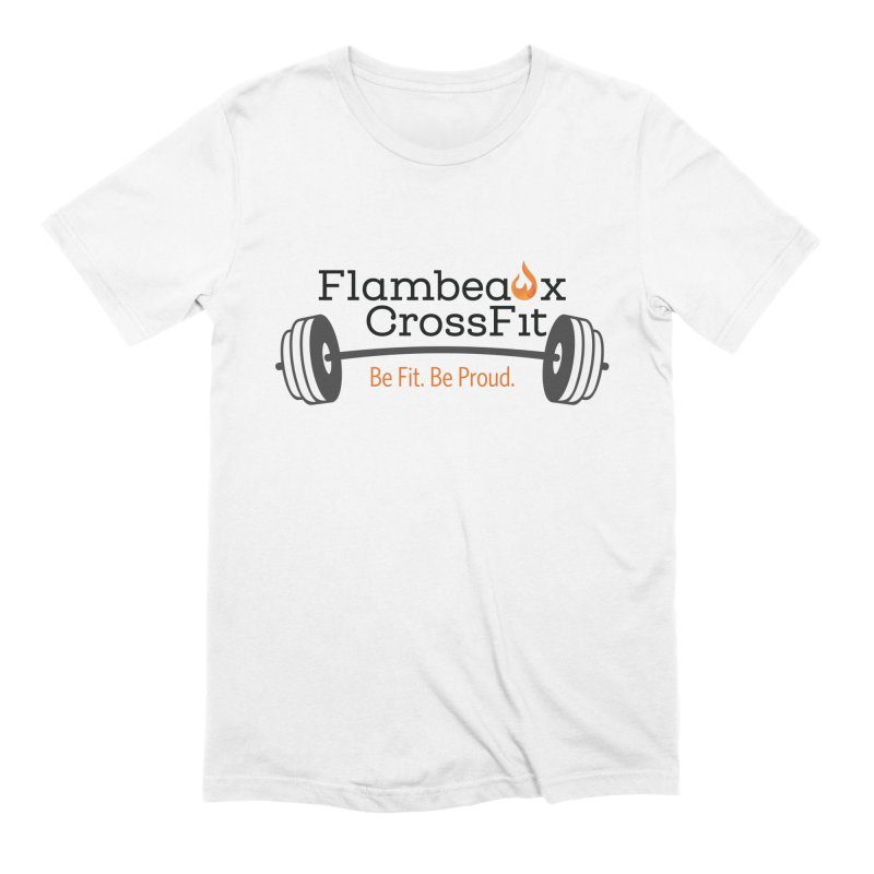 Flambeaux barbell Men's Extra Soft T-Shirt by FlambeauxFit's Artist Shop