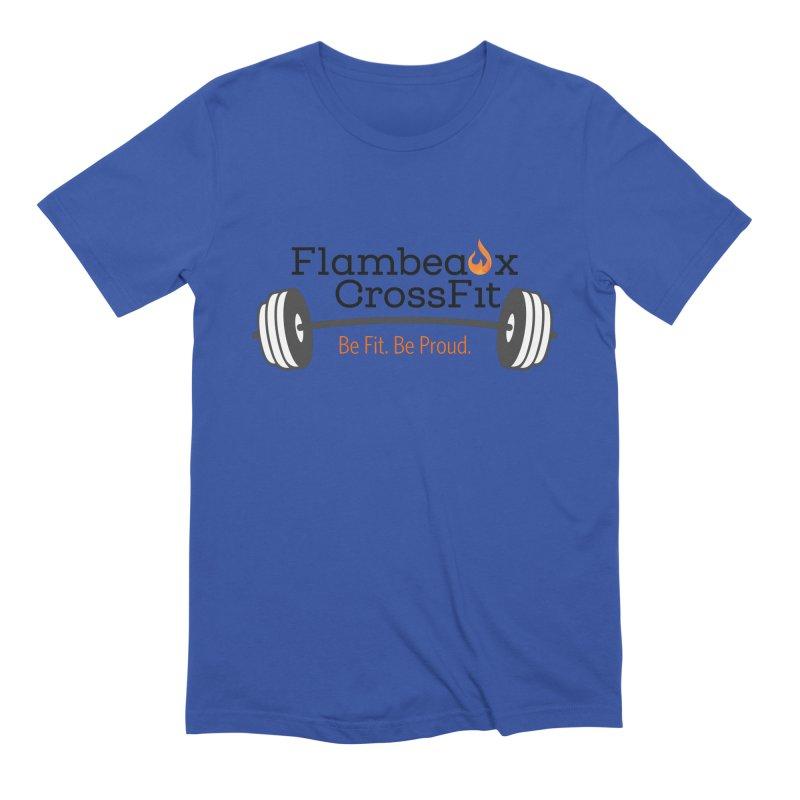 Flambeaux barbell Men's Extra Soft T-Shirt by FlambeauxFit's Artist Shop