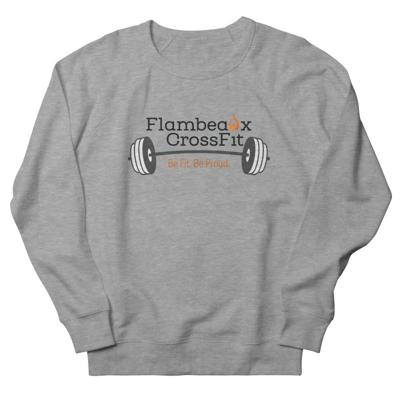 Flambeaux barbell Men's French Terry Sweatshirt by FlambeauxFit's Artist Shop