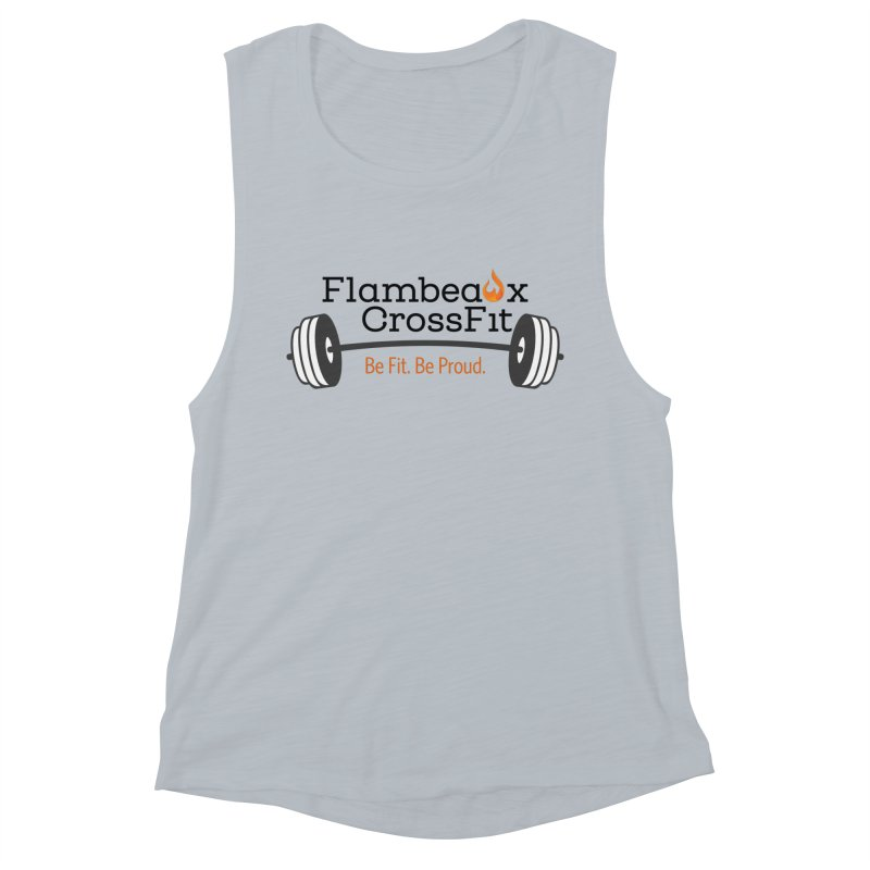 Flambeaux barbell Women's Muscle Tank by FlambeauxFit's Artist Shop