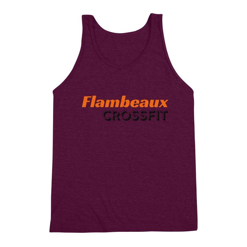 Flambeaux Bold Men's Triblend Tank by FlambeauxFit's Artist Shop