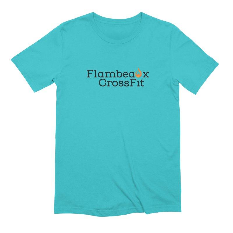 Center Logo Men's Extra Soft T-Shirt by FlambeauxFit's Artist Shop