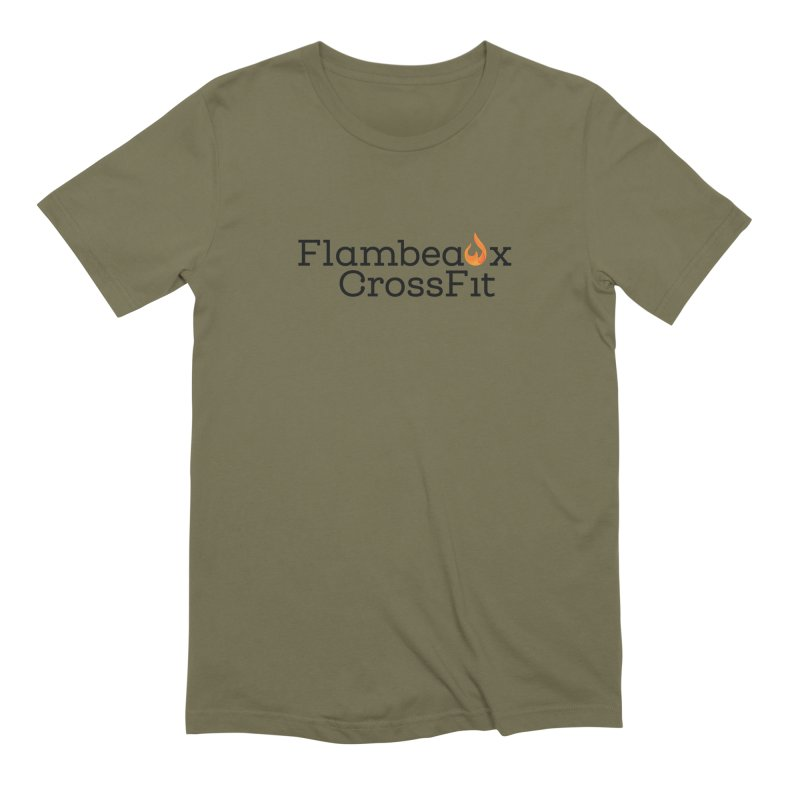 Center Logo Men's Extra Soft T-Shirt by FlambeauxFit's Artist Shop