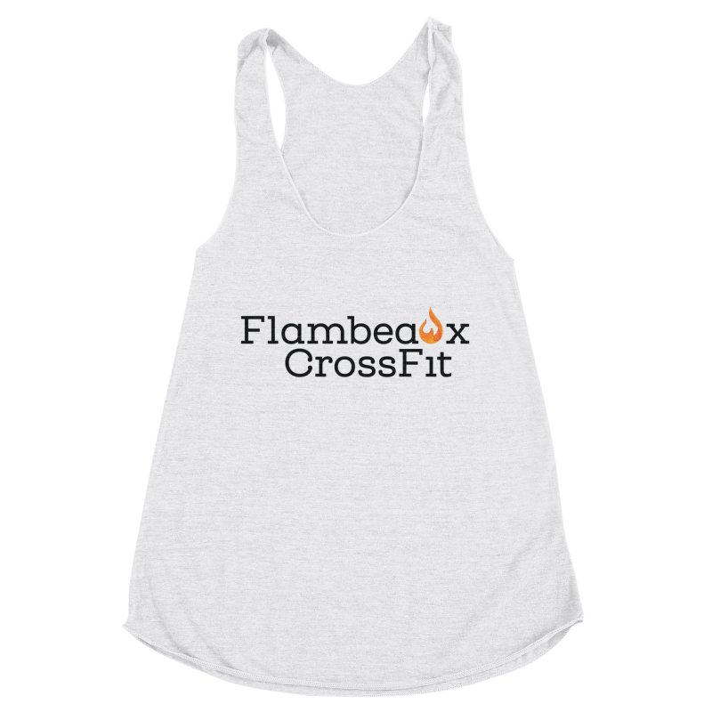 Center Logo Women's Racerback Triblend Tank by FlambeauxFit's Artist Shop