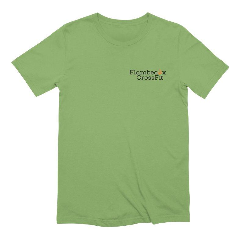 Flambeaux Logo Pocket Men's Extra Soft T-Shirt by FlambeauxFit's Artist Shop