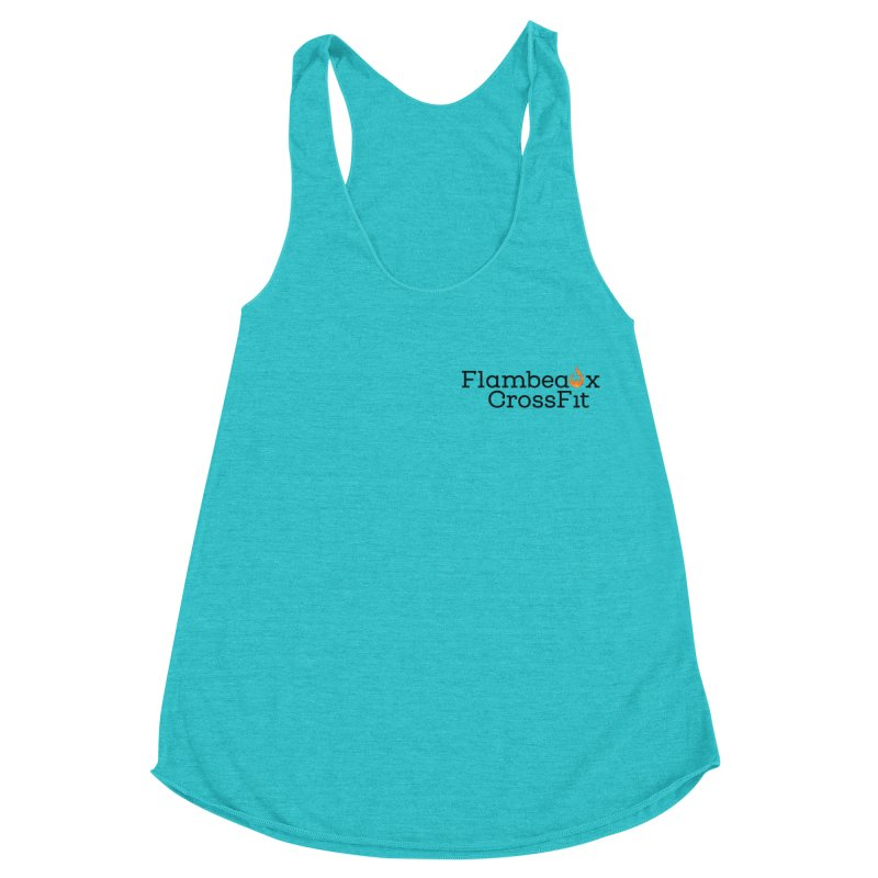 Flambeaux Logo Pocket Women's Racerback Triblend Tank by FlambeauxFit's Artist Shop