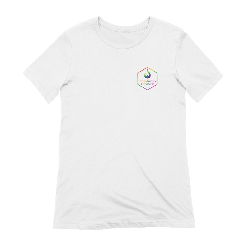 Rainbow in Your Pocket Women's Extra Soft T-Shirt by FlambeauxFit's Artist Shop