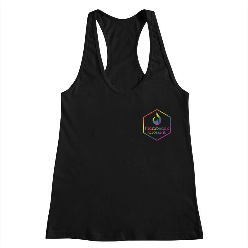 Rainbow in Your Pocket Women's Racerback Tank by FlambeauxFit's Artist Shop