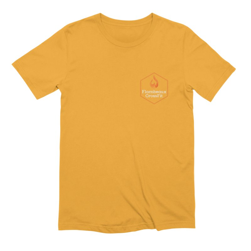 Orange Badge Men's Extra Soft T-Shirt by FlambeauxFit's Artist Shop