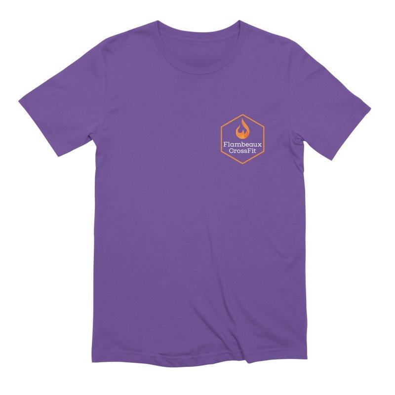 Orange Badge Men's Extra Soft T-Shirt by FlambeauxFit's Artist Shop