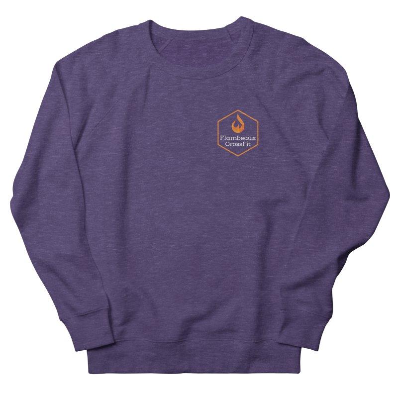 Orange Badge Women's French Terry Sweatshirt by FlambeauxFit's Artist Shop