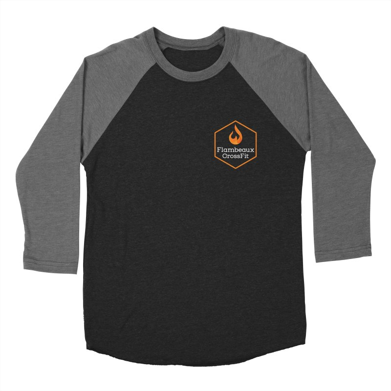 Orange Badge Men's Baseball Triblend Longsleeve T-Shirt by FlambeauxFit's Artist Shop