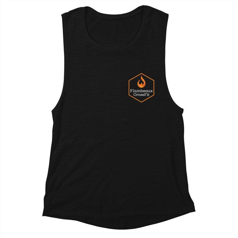 Orange Badge Women's Muscle Tank by FlambeauxFit's Artist Shop