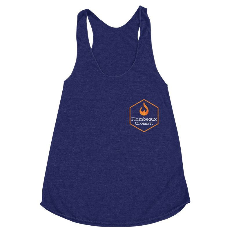 Orange Badge Women's Racerback Triblend Tank by FlambeauxFit's Artist Shop