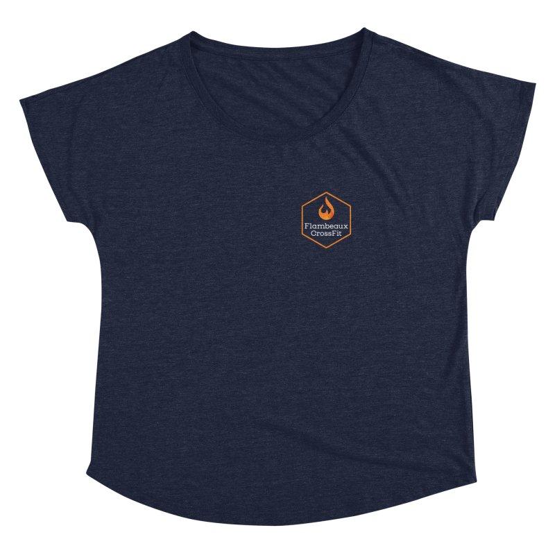 Orange Badge Women's Dolman Scoop Neck by FlambeauxFit's Artist Shop