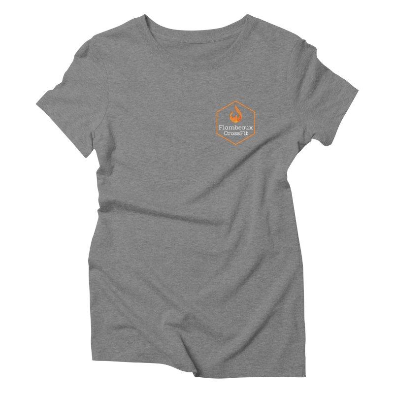 Orange Badge Women's Triblend T-Shirt by FlambeauxFit's Artist Shop