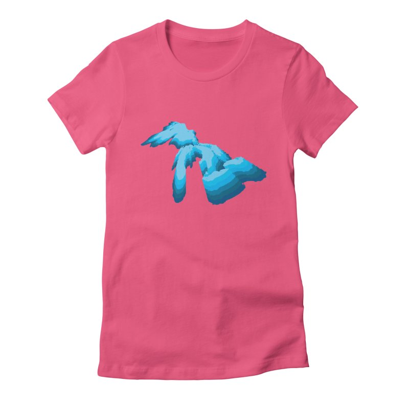 GREAT GREAT LAKES Women's Fitted T-Shirt by    Flummox Industries