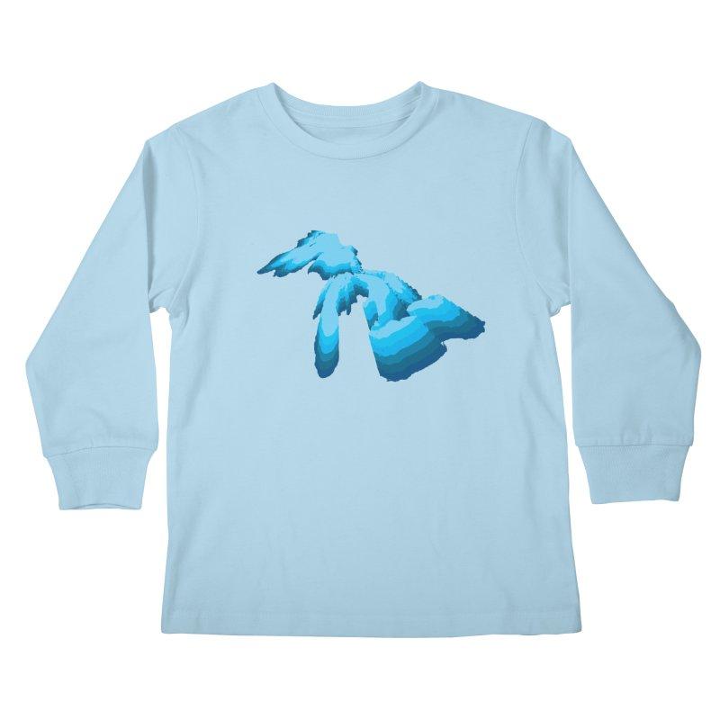 GREAT GREAT LAKES Kids Longsleeve T-Shirt by    Flummox Industries