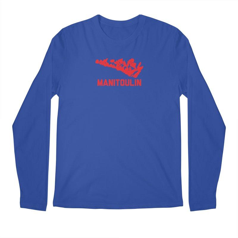 MANITOULIN - RED Men's Longsleeve T-Shirt by    Flummox Industries