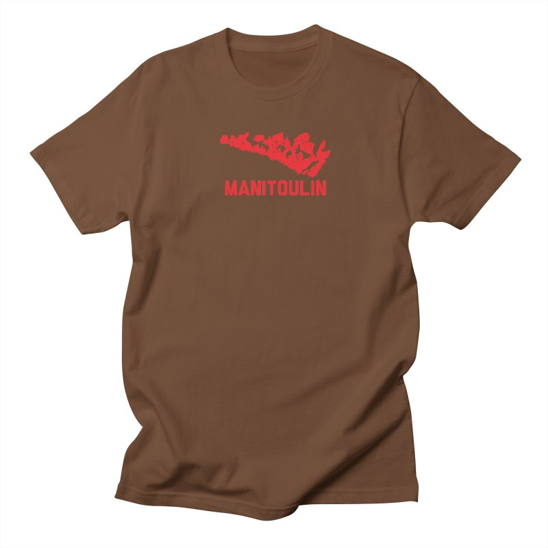 MANITOULIN - RED Men's T-Shirt by    Flummox Industries