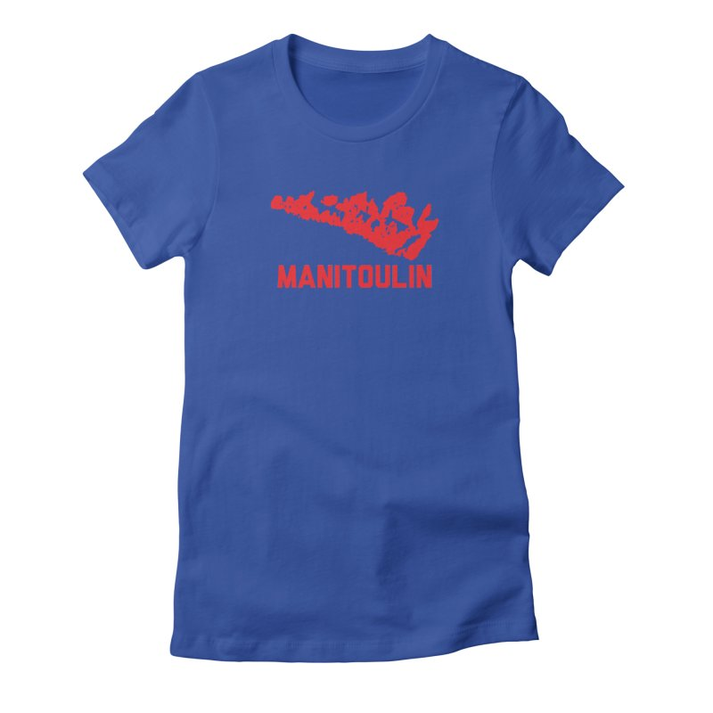 MANITOULIN - RED Women's Fitted T-Shirt by    Flummox Industries