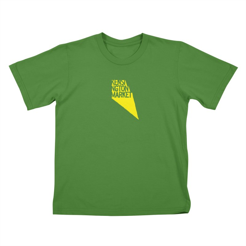 KENSINGTON MARKET - YELLOW Kids T-Shirt by    Flummox Industries