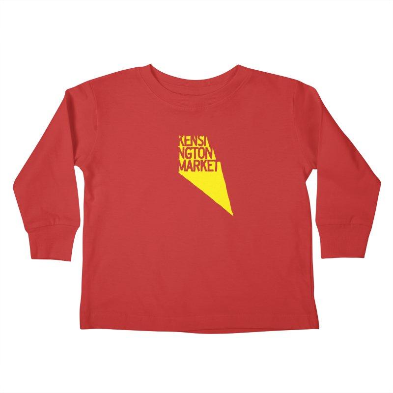KENSINGTON MARKET - YELLOW Kids Toddler Longsleeve T-Shirt by    Flummox Industries