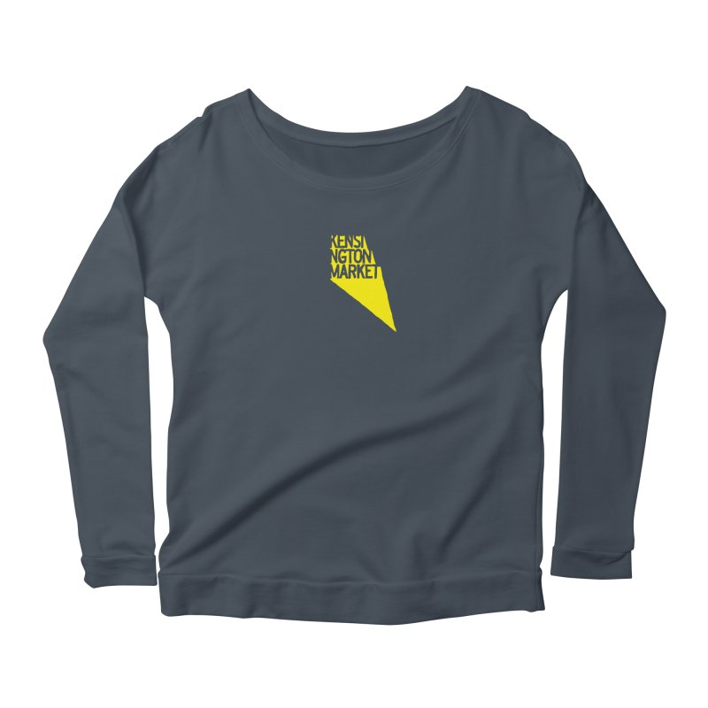 KENSINGTON MARKET - YELLOW Women's Longsleeve Scoopneck  by    Flummox Industries