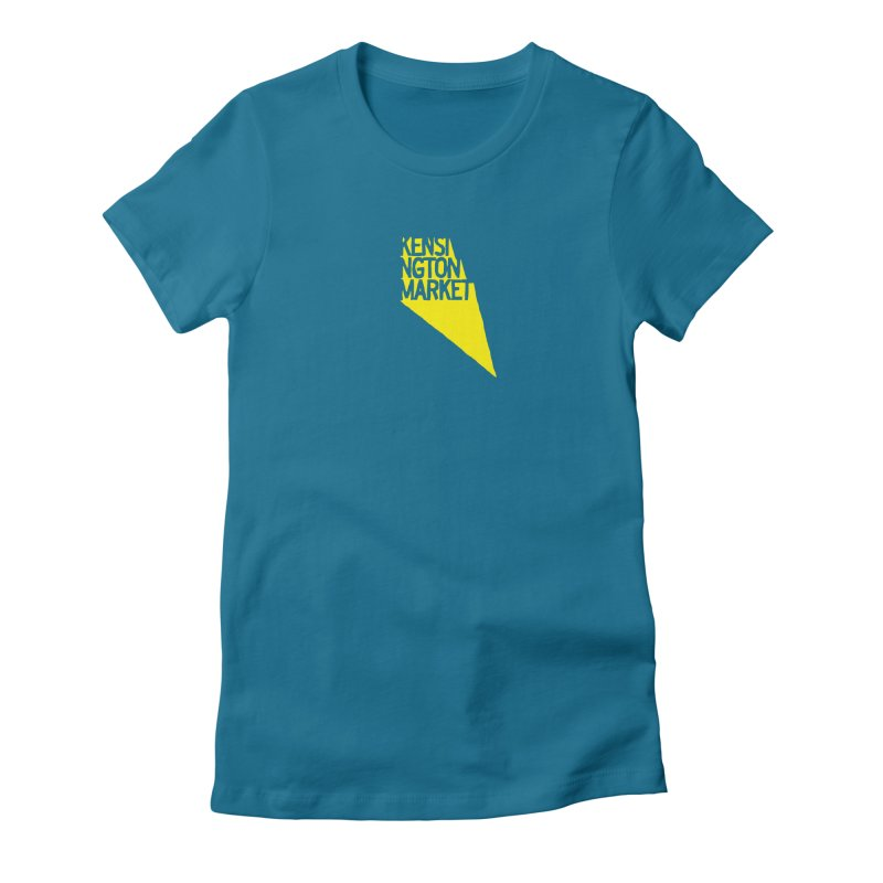 KENSINGTON MARKET - YELLOW Women's Fitted T-Shirt by    Flummox Industries