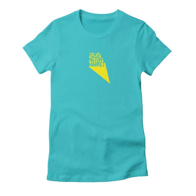 KENSINGTON MARKET - YELLOW Women's Fitted T-Shirt by    Flummox Industries
