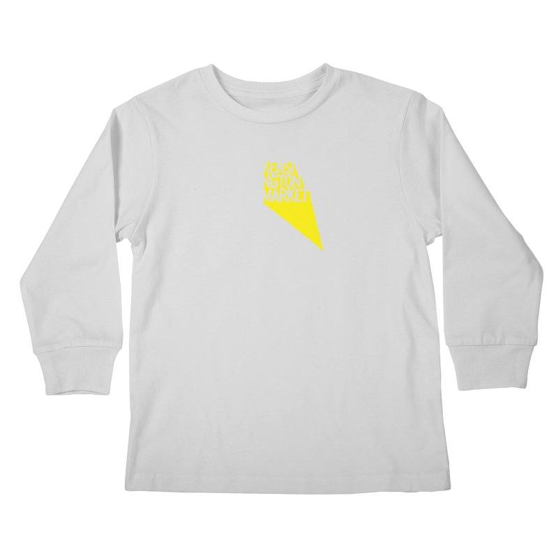 KENSINGTON MARKET - YELLOW Kids Longsleeve T-Shirt by    Flummox Industries