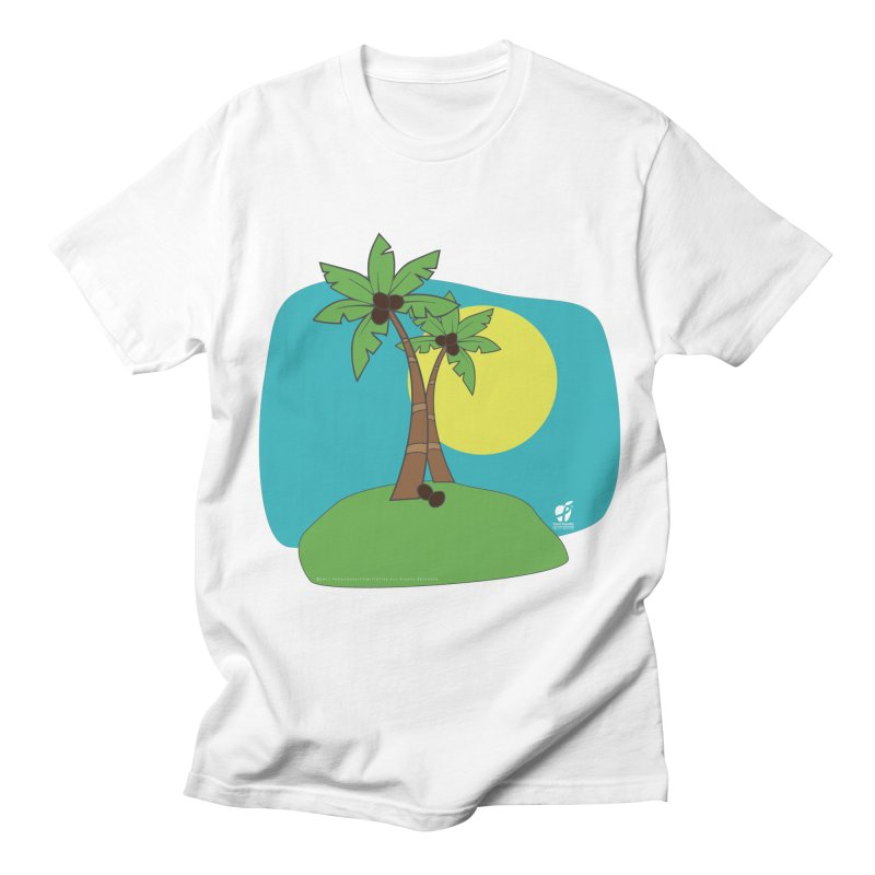 """Coconut Trees Men's T-Shirt by FoodEqualityShop""""s Artist Shop"""