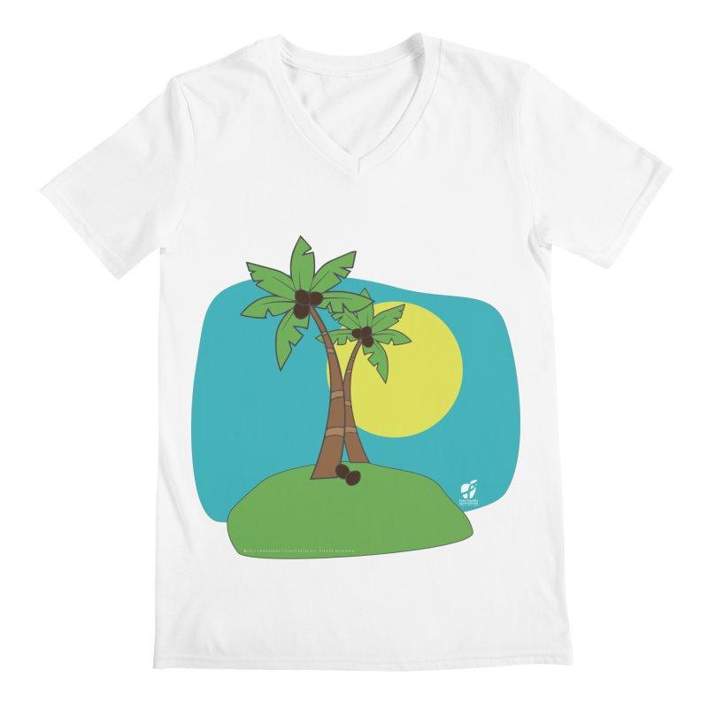 "Coconut Trees Men's V-Neck by FoodEqualityShop""s Artist Shop"