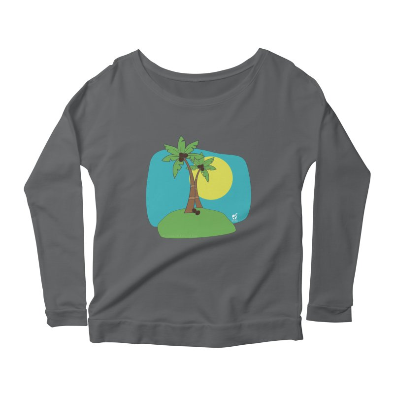 """Coconut Trees Women's Longsleeve T-Shirt by FoodEqualityShop""""s Artist Shop"""