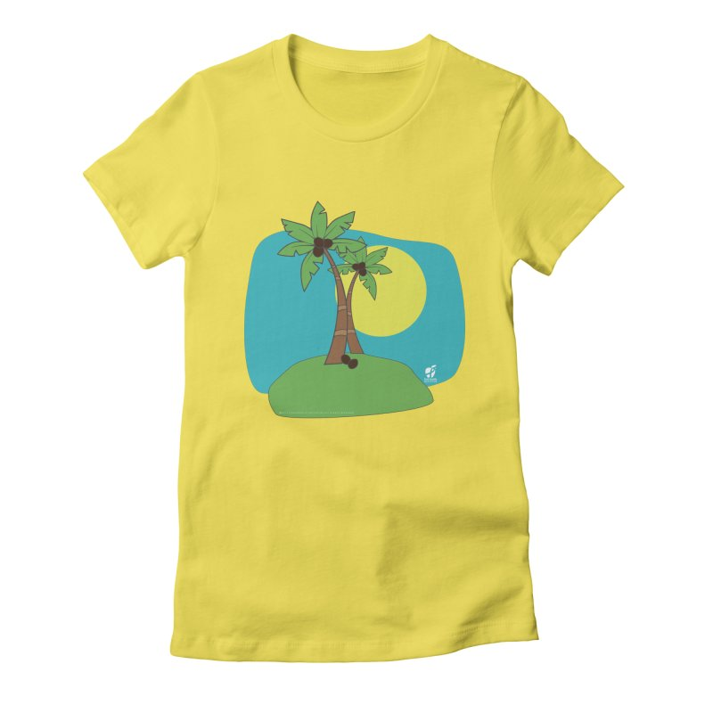 "Coconut Trees Women's T-Shirt by FoodEqualityShop""s Artist Shop"