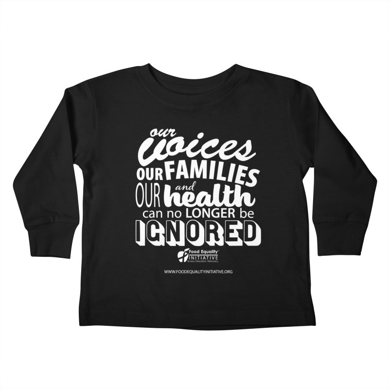 """FEI's Be Bold Quote Kids Toddler Longsleeve T-Shirt by FoodEqualityShop""""s Artist Shop"""