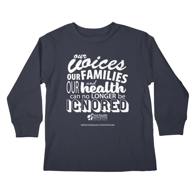 """FEI's Be Bold Quote Kids Longsleeve T-Shirt by FoodEqualityShop""""s Artist Shop"""
