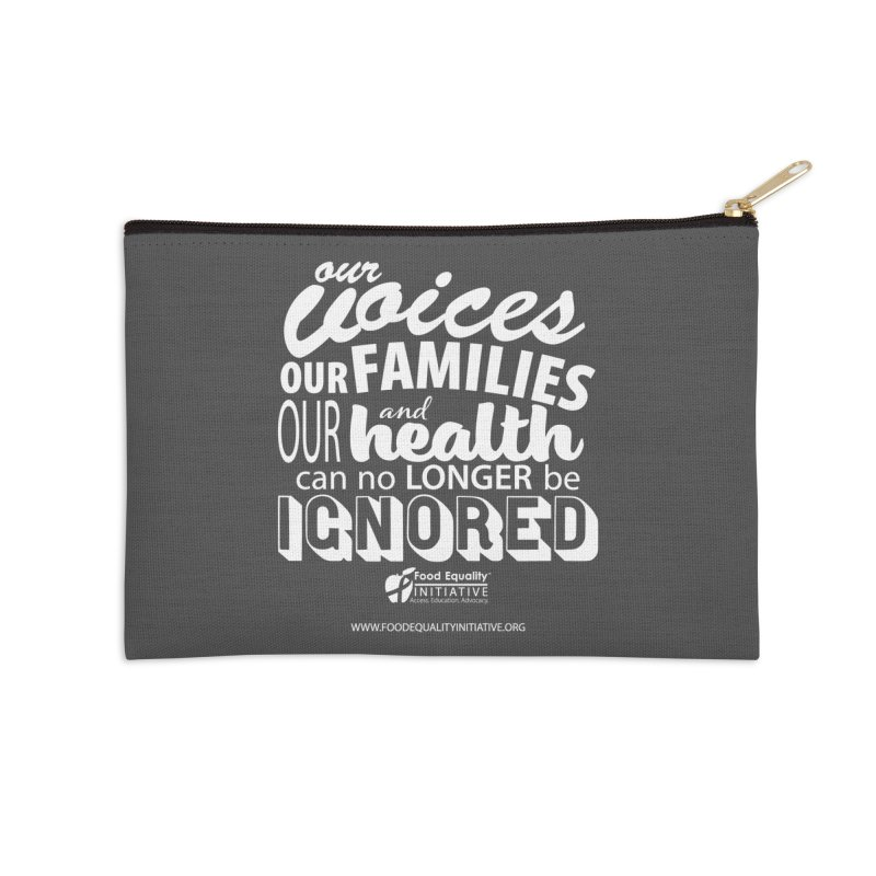"FEI's Be Bold Quote Accessories Zip Pouch by FoodEqualityShop""s Artist Shop"
